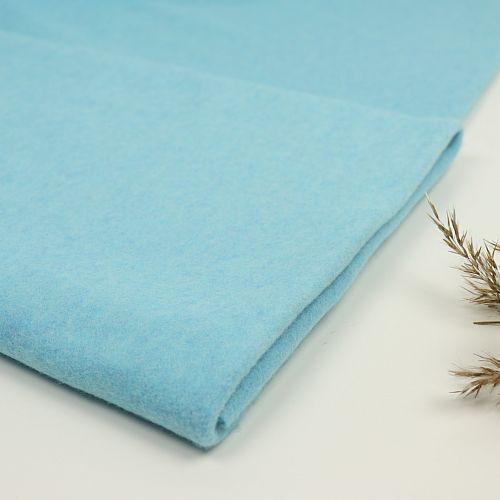 Bio Baumwollfleece Stoff Antiqua hellblau meliert Stoffonkel