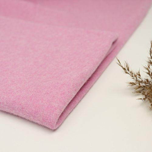 Bio Baumwollfleece Stoff Barbados rosa meliert Stoffonkel