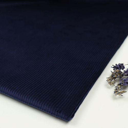 Bio Genuacord Cord Stoff kobalt blau