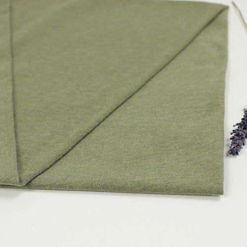 Bio Jersey Soft Touch uni olivgrün meliert