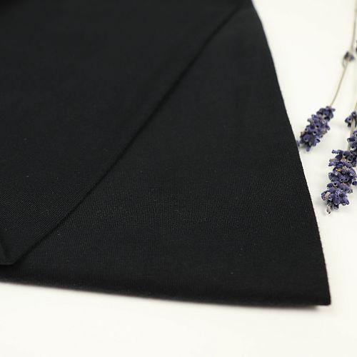 Bio Jersey Soft Touch uni schwarz