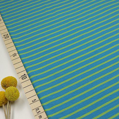 Bio Jersey Stoff Streifen blau grün Ringeljersey Stoffonkel
