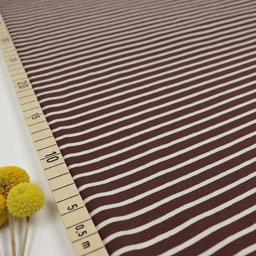 Bio Jersey Stoff Streifen braun beige Ringeljersey Stoffonkel