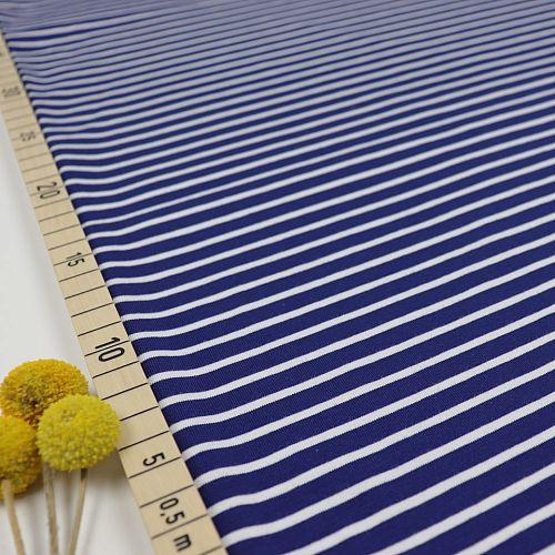 Bio Jersey Stoff Streifen marineblau Ringeljersey Stoffonkel