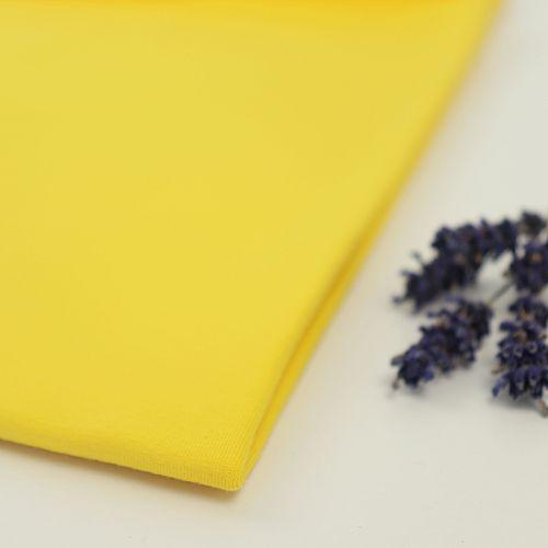 Bio Jersey Stoff uni gelb