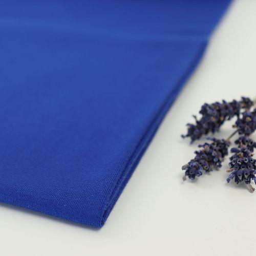 Bio Jersey Stoff uni royal blau