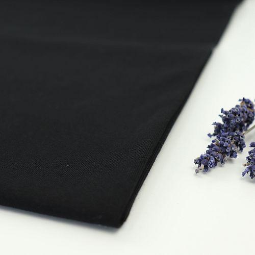 Bio Jersey Stoff uni schwarz