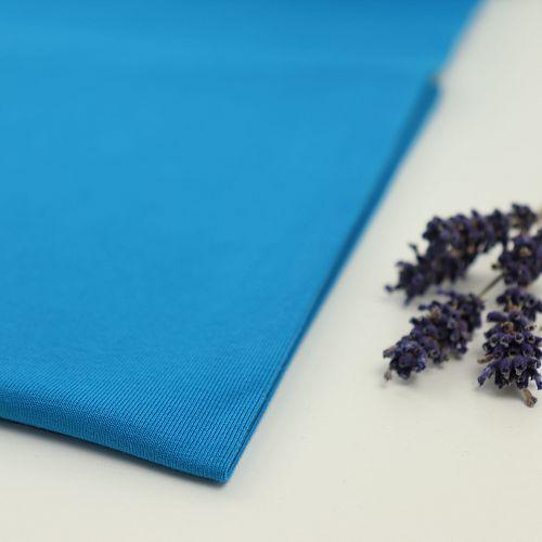 Bio Jersey Stoff uni türkis blau