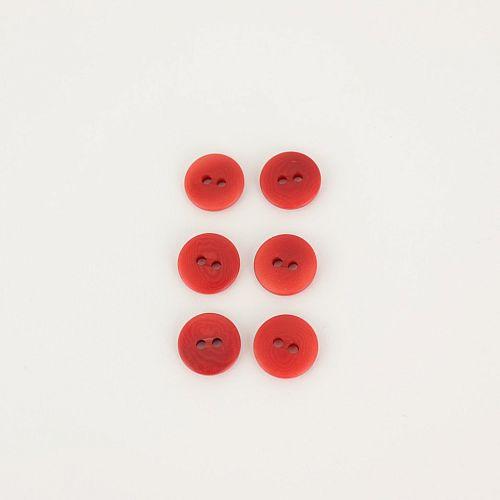 Bio Knöpfe Echt Steinnuss 12mm rot pflanzengefärbt vegan im Set