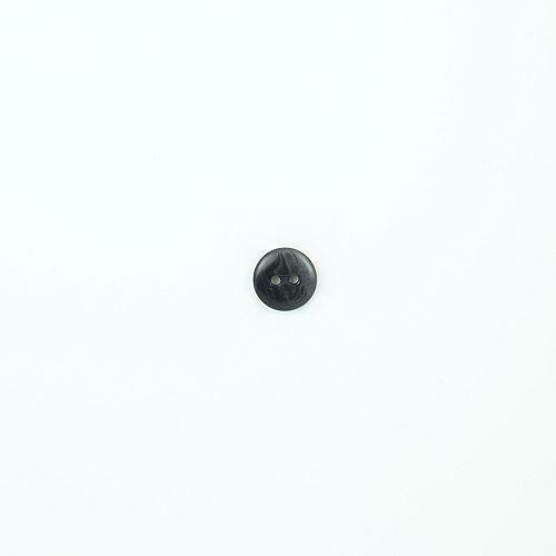 Bio Knopf Echt Steinnuss 12mm grau glänzend