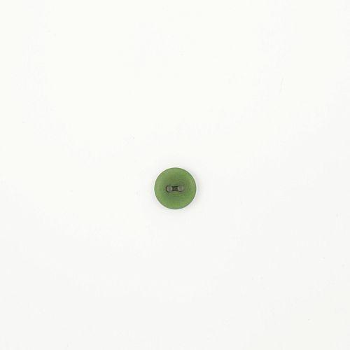 Bio Knopf Echt Steinnuss 12mm grün Olive satin matt
