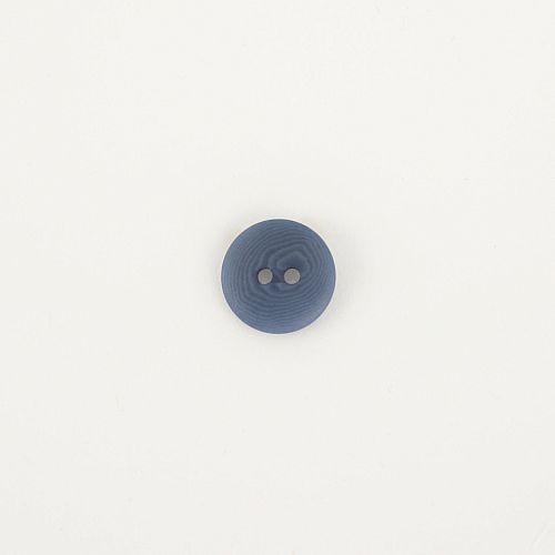 Bio Knopf Echt Steinnuss 15mm blau pflanzengefärbt vegan