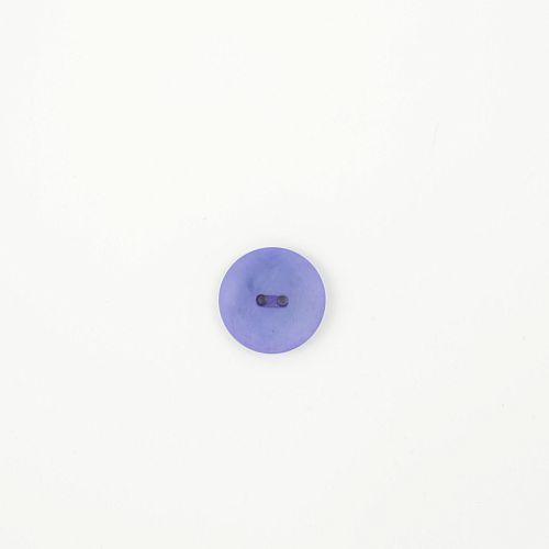 Bio Knopf Echt Steinnuss 20mm Blau satin matt