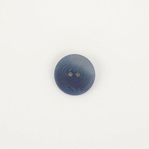 Bio Knopf Echt Steinnuss 20mm blau pflanzengefärbt vegan
