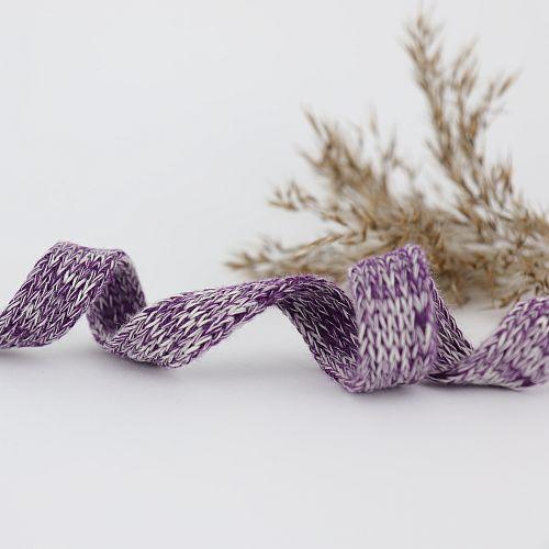Bio Kordel Cord ME violett meliert 1,2cm Hamburger Liebe by Albstoffe