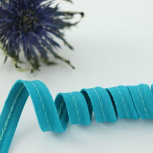 Bio Paspel Hellpetrol aus 100% Bio-Baumwolle AMANDINE CHA