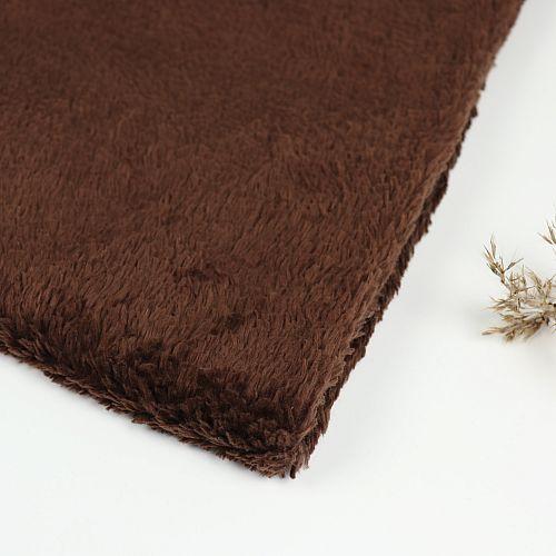 Bio Plüsch Stoff schoko von Stoffonkel
