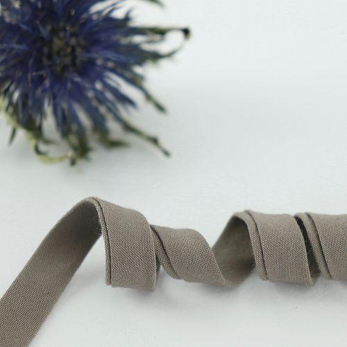 Bio Schrägband Graubraun aus 100% Bio-Baumwolle AMANDINE CHA