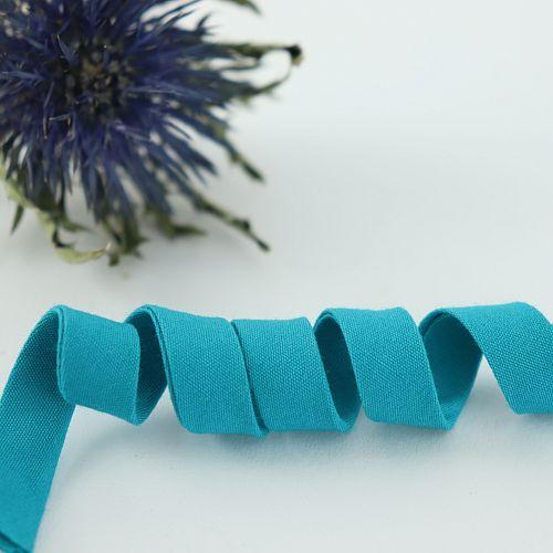 Bio Schrägband Hellpetrol aus 100% Bio-Baumwolle AMANDINE CHA