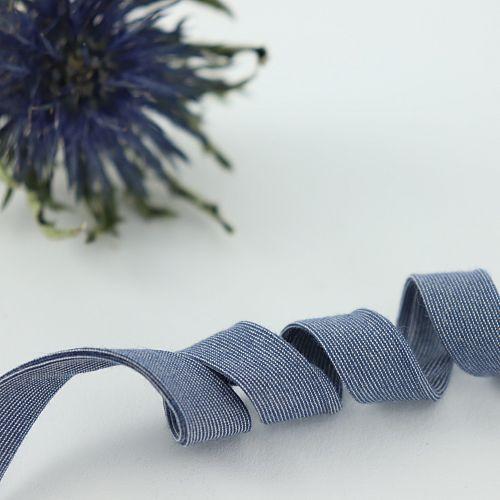 Bio Schrägband Jeansblau aus 100% Bio-Baumwolle AMANDINE CHA