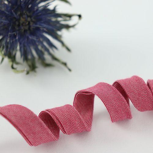Bio Schrägband Kirschblüten Rot aus 100% Bio-Baumwolle AMANDINE CHA