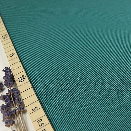 Bio Strickjacquard Rippenmuster smaragd grün von Stoffonkel