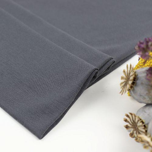 MicroModal® Jersey in dunkelgrau von Fabrilogy
