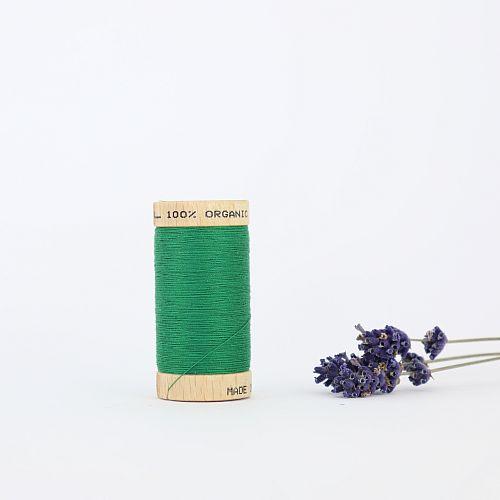 Nähgarn Blattgrün 100% Bio Baumwolle Scanfil