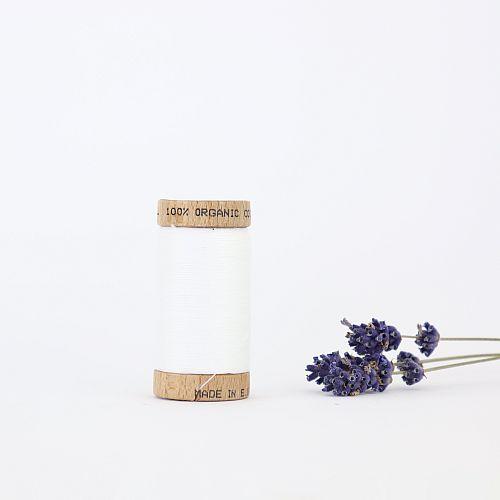 Nähgarn Weiß 100% Bio Baumwolle Scanfil