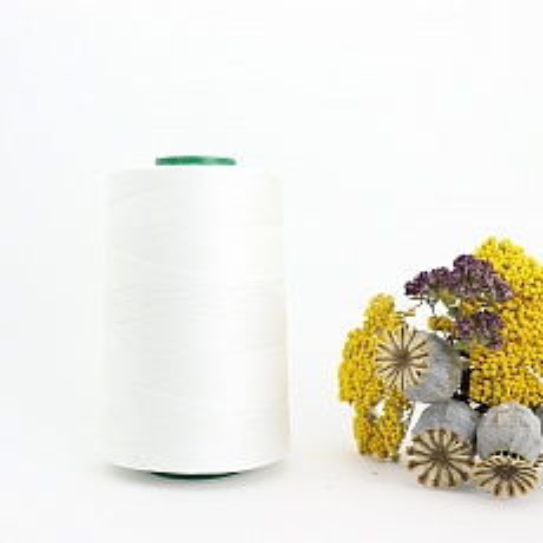 Nähgarn Weiß 100% Bio Baumwolle Scanfil 5000m Kone
