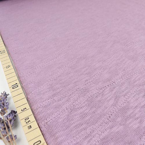 Organic Slub Jacquard Knit in Lilac von mind the MAKER