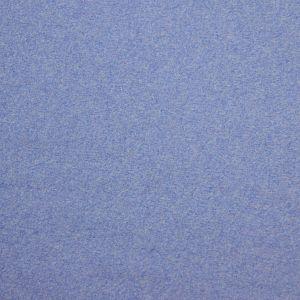 Bio Baumwollfleece Stoff Martinique blau meliert Stoffonkel