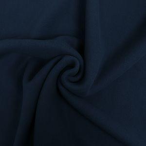 Bio Baumwollfleece Stoff indigo blau von Fabrilogy
