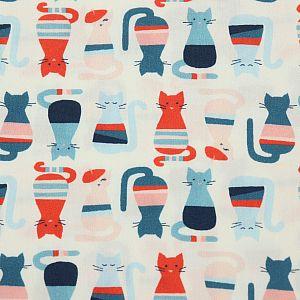 Bio Popeline Baumwollstoff Cool Cats von Monaluna