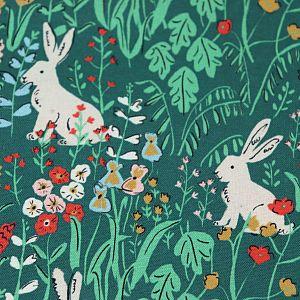 Bio Popeline Baumwollstoff Hethersett Hares aus der Serie Natural Beauty von Cloud9