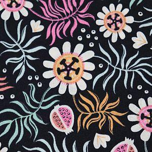 Bio Popeline Baumwollstoff Motiv Tropical Garden von Cloud9