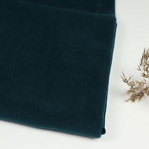 Bio Baumwollfleece Stoff dunkelpetrol von Fabrilogy