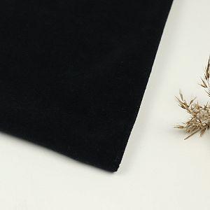 Bio Baumwollfleece Stoff schwarz von Fabrilogy
