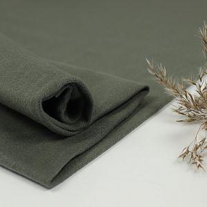 Bio Bündchen Stoff uni Khaki grün Stoffonkel