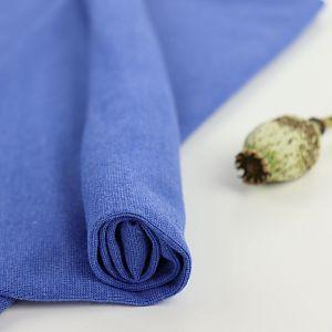 Bio Bündchen Stoff uni blau meliert
