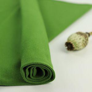 Bio Bündchen Stoff uni dunkelgrün