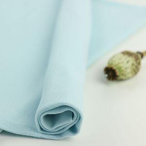 Bio Bündchen Stoff uni eisblau