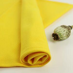 Bio Bündchen Stoff uni gelb