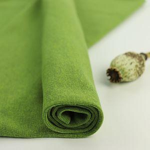 Bio Bündchen Stoff uni grün meliert