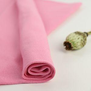 Bio Bündchen Stoff uni rosa