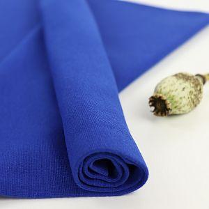 Bio Bündchen Stoff uni royalblau