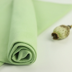 Bio Bündchen Stoff uni schaumgrün