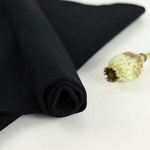 Bio Bündchen Stoff uni schwarz