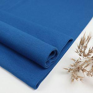 Bio Bündchen gerippt uni Intense Blue