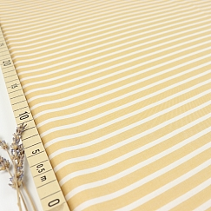 Bio Chambray Streifen Safran gelb von Amandine Cha